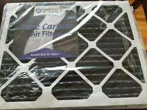 Nordic Pure16×20×1 MERV 8 AC filters carbon odor reduction.3 pack Free shipping!