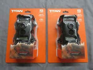 2 PACK Wildgame Titan 8MP IR Trail Camera TR8i1SI-9