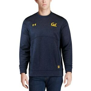 Under Armour Cal Bears Navy 2017 Sideline Performance Crew Sweatshirt