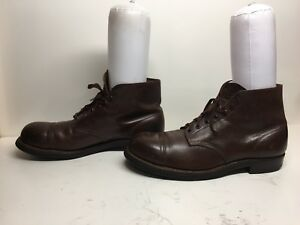 VTG MENS RED WING IRON RAGER STEEL TOE CHUKKA WORK LEATHER BROWN BOOTS SIZE 12 E