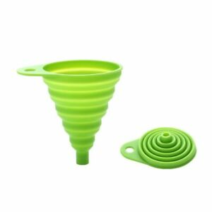 Silicone Practical Collapsible Foldable Snail Funnel Oil Hopper Kitchen Tools