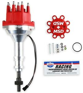 MSD Ignition 85786 Billet Small Cap Distributor Ford 351W Steel Gear (Hydraulic