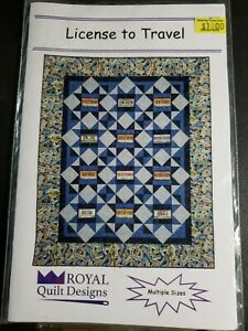 License to Travel Pattern Royal Quilt Designs $10.00