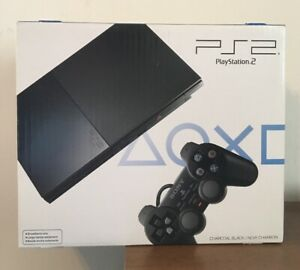 Sony PlayStation 2 - Slim Black Home Console SCPH-90001CB Charcoal Black New