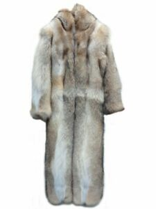 BRAND NEW DOUBLE SIDED ARCTIC COYOTE FUR SNOWSUIT JUMPSUIT COAT FUR MEN MAN