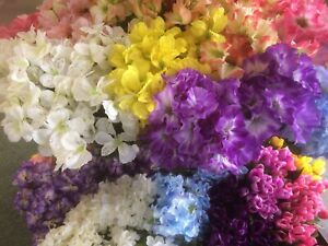 Large Mixed Lot Artificial Silk Flowers 10 Bunches Stem WEDDING  Home decor