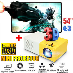 YG300 Portable 1080P LED Home Theater Cinema Projector w 60