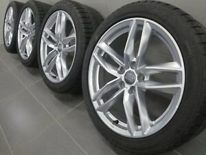 18 Inch Winter Tires Original Audi A4 S4 8W B9 8W0601025BA Rs Design (A237)