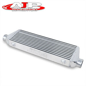 Polished Intercooler Turbo Super Charge Air Flow Power Bar Plates Boost Psi Tune