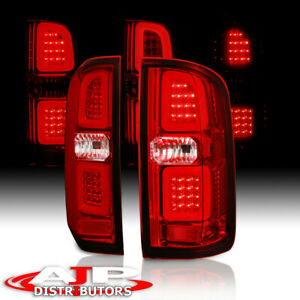 Red Led Tube Phantom Rear Tail Light Brake Lamps For 2015-2018 Colorado Canyon