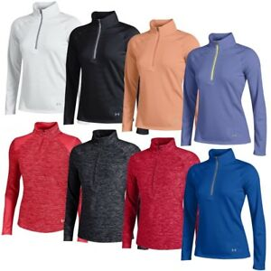 NEW Women's Lady Under Armour 14 Zip Golf Shirts - Choose Style Color