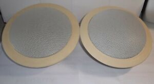 2--Klipsch Ceiling Wall  Mount RCR-5 Theater TV Audio Speakers-Tested Excellent!