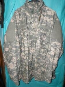 US MILITARY M-65 ACU CAMO COLD WEATHER FIELD JACKET SZ LARGE REGULAR GENTLY USED