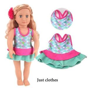 18-inch Female Doll Clothes Dress Swimsuit Swimwear Accessories Doll C7Q3