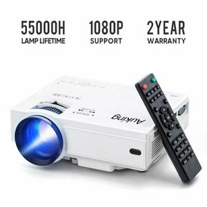 Mini Projector 2019 Upgraded Portable Video Projector 55000 Hours Multimedia NEW