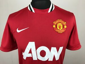 Manchester United 2011 Nike Football Shirt Mens Size M Home Soccer Jersey AON $19.90
