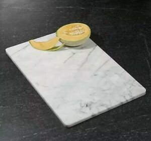 """Kitchen Cutting Board White Marble Dough Pastry Rolling Beautiful Decor 16"""" X 12"""