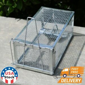Rat Trap Cage Small Live Animal Pest Rodent Mouse Control Catch Hunting Trap