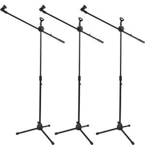 Glarry 3 Pack Microphone Boom Stand Holder Mic Clip Stage Studio Tripod $42.62