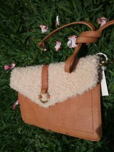Universal Thread Cognac and Sherpa Crossbody