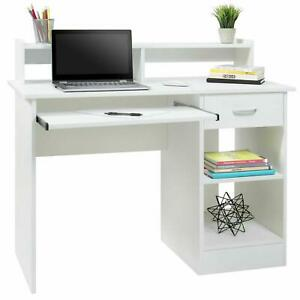 Writing Table Computer Desk Laptop Pc Furniture Wood Workstation Study Office $98.99