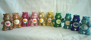 CUSTOM Vintage Kenner Poseable Figure LOT Original 10 CARE BEAR Glitter Sparkle