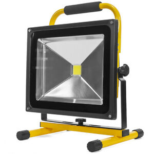 Portable COB Flood Light Rechargeable LED Work Light 50W Cordless with Handle