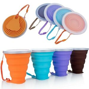 270ml Portable Silicone Telescopic Drinking Collapsible Folding Cup Camping Good