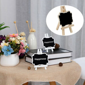Wood Mini Chalkboard Signs Tags with Easel Stand for Weddings Message Board Sign