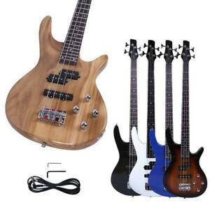 New Basswood 24 Frets Right Handed 4 Strings Electric Bass Guitar