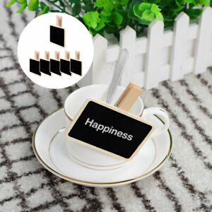 Wood Mini Chalkboard Signs Tags with Clips DIY for Weddings Message Board Notes