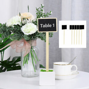 Wood Mini Chalkboard Signs Tags with Supporter for Wedding Message Board Sign