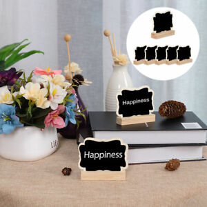 Wood Mini Chalkboard Signs Tags with Base Stand for Weddings Message Board Sign