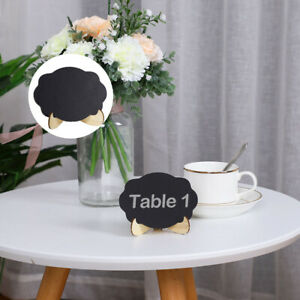 Wood Mini Chalkboard Sign Tag with Easel Stand for Wedding Message Board Sign