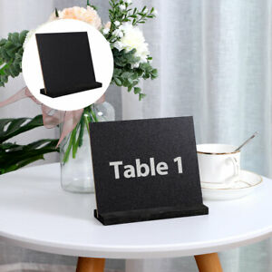 Wood Mini Chalkboard Sign with Easel Stand for Wedding Message Double-side Sign