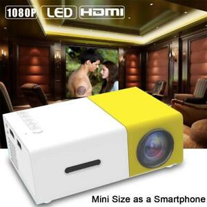 Mini 1080P Full HD LED Projector LCD Smart Home Theater AV HDMI Multimedia EU GA