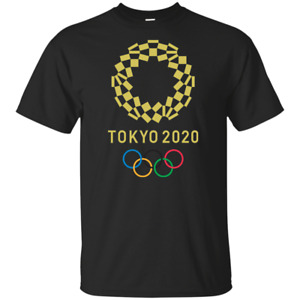 2020 TOKYO Japan Summer Olympic Men's Black T-shirt Tee