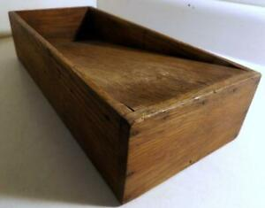 Antique Primitive Wood Scouring Knife Box Sharpening Cleaning Country Kitchen