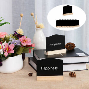 Wood Mini Chalkboard Signs with Easel Stand for Wedding Message Double-side Sign