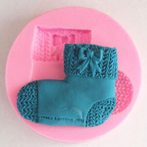 Christmas 3D Silicone Cake Mold Socks Chocolate Fondant Cookie Mould W