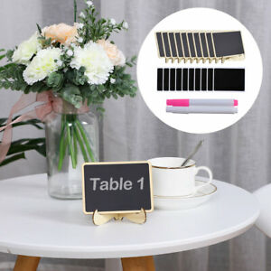Mini Chalkboard Signs Tag with Easel Stand and Pens for Message Board Sign