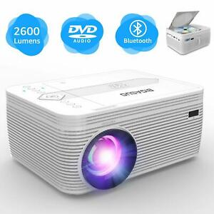 BIGASUO Projector with DVD Player Mini Projector Portable Bluetooth Projector