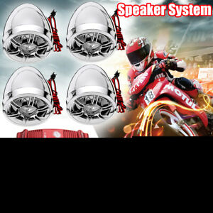 bluetooth Amplifier Motorcycle Stereo Speaker Audio System AUX Radio For Harley