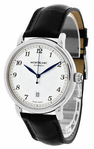 Montblanc Star Legacy Auto 42MM White Silver Dial Men's Watch 116511