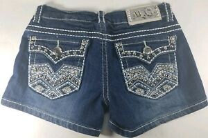 MISS CHIC USA New Fashion Women's Studded Bling Denim Jeans Shorts Size S