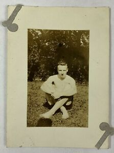 Cross Legged Man In The Grass, Summer's Day, Gay Int, Vintage Photo Snapshot