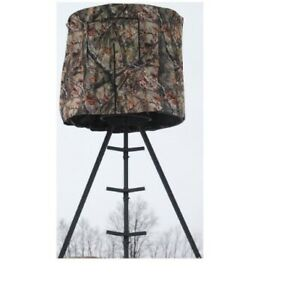 Guide Gear Tripod Hunting Blind Weather Resistant Fabric Zippered Door Sturdy