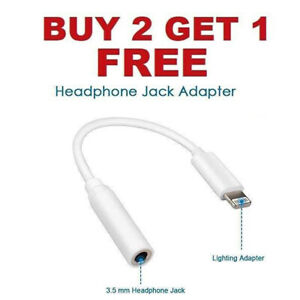 Headphone AUX Adapter Jack Lightning to 3.5mm Cord Dongle iPhone 7 8 10 PLUS MAX