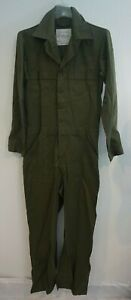 US Army Military Green Utility Mechanic Coverall Sz 38L 8405-01-462-4032 S/M