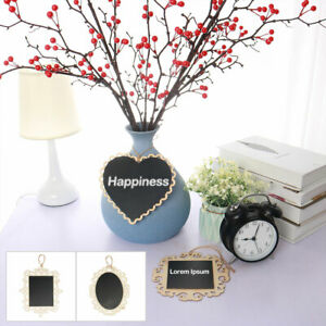 Wood Mini Chalkboard Signs Tags with Hanging Rope for Parties Message Board Sign
